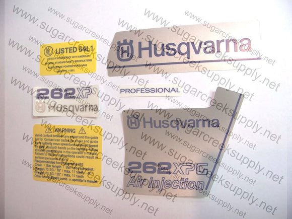 Husqvarna 262XPG ver1 decal set