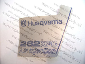 Husqvarna 262XPG ver1 flywheel decal
