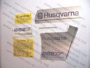 Husqvarna 262XPG ver2 decal set