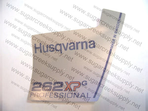Husqvarna 262XPG ver2 Professional flywheel decal