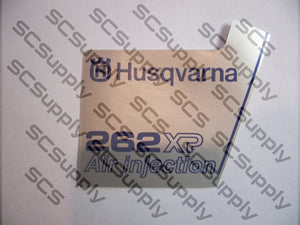 Husqvarna 262XP (late) flywheel decal