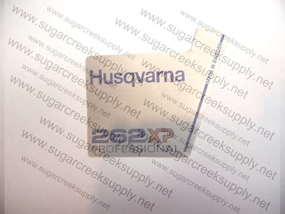 Husqvarna 262XP Professional flywheel decal