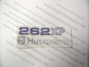 Husqvarna 262XP rear airbox decal