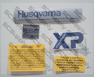 Husqvarna 266XP (early) decal set