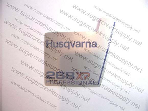 Husqvarna 268XP Professional flywheel decal