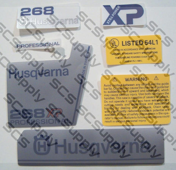 Husqvarna 268XP (late)(large dc) decal set