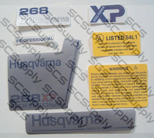 Husqvarna 268XP (late)(small dc) decal set