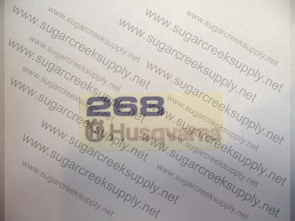 Husqvarna 268 and 268XP air cover decal