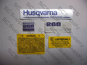 Husqvarna 268 (early) decal set
