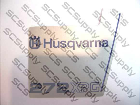 Husqvarna 272XPG flywheel decal