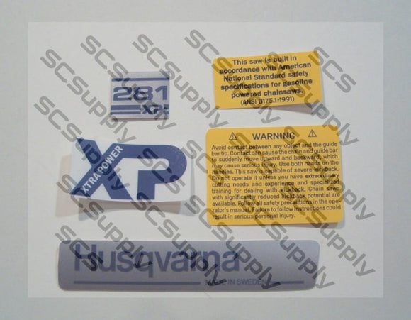 Husqvarna 281XP (early)(small dc) decal set