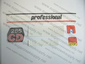 Husqvarna 285CD decal set