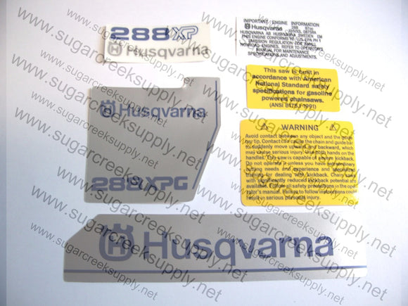 Husqvarna 288XPG (late) decal set