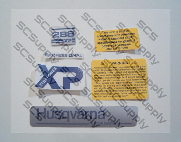 Husqvarna 288XP (early)(small dc) decal set