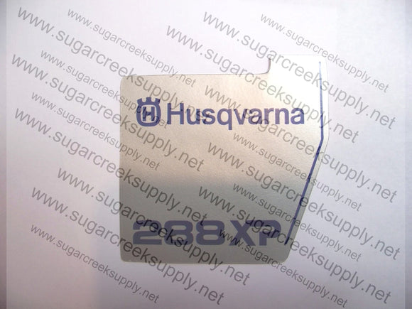Husqvarna 288XP late starter cover decal