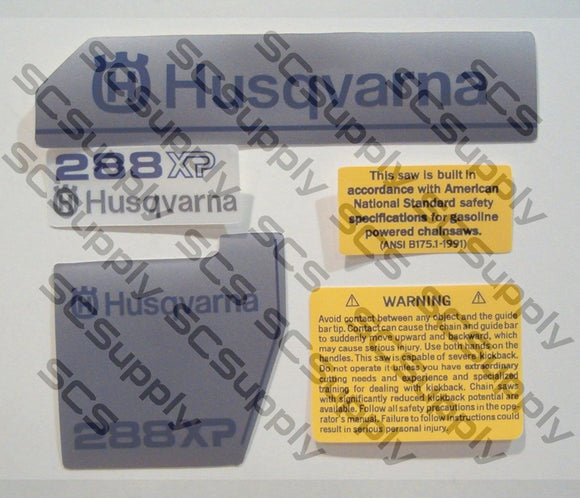 Husqvarna 288XP (late)(large dc) decal set