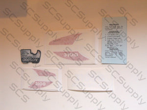Homelite 3100 (version 1) decal set