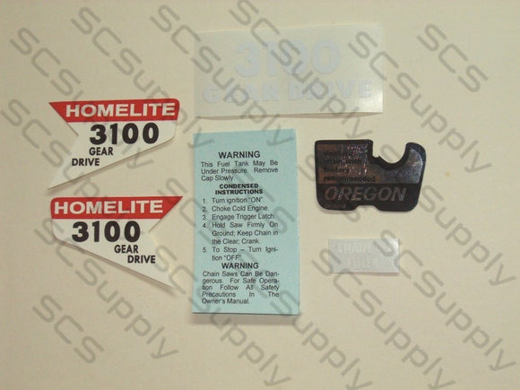 Homelite 3100 (version 2) decal set