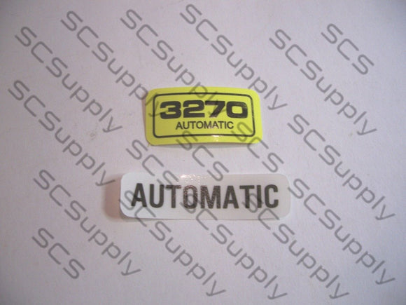 Pioneer 3270 Automatic decal set
