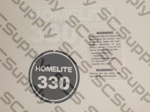 Homelite 330 (ver. 1)  decal set