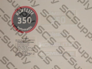 Homelite 350 decal set