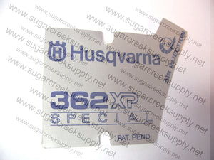 Husqvarna 362XP Special starter cover decal