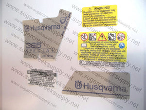 Husqvarna 365 Special (early) decal set