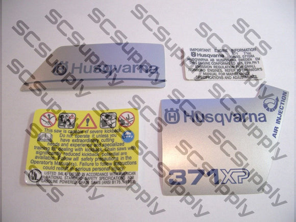 Husqvarna 371XP (early) decal set