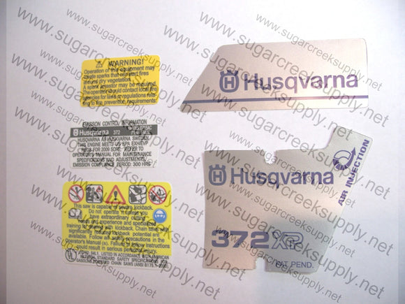 Husqvarna 372XP (early) decal set