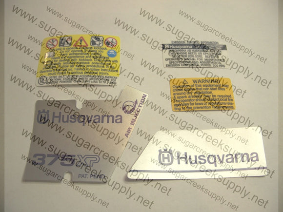 Husqvarna 375XP decal set