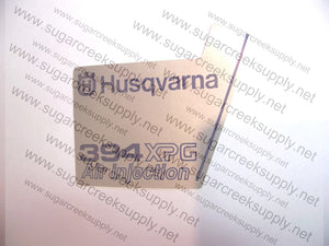 Husqvarna 394XPG ver 1 starter cover decal