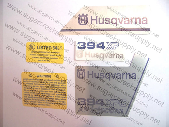Husqvarna 394XPG ver 1 decal set