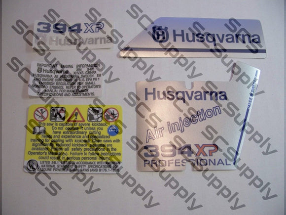Husqvarna 394XP Professional decal set