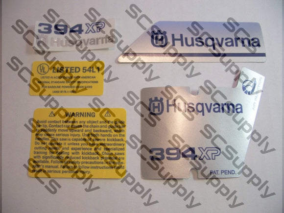 Husqvarna 394XP (version 2) decal set