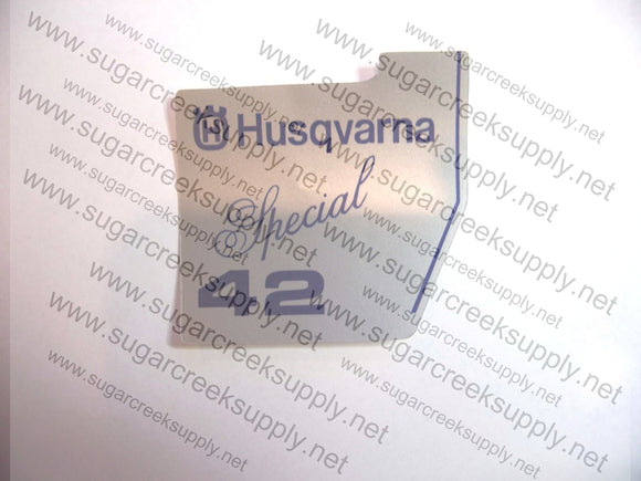 Husqvarna 42 Special starter cover decal