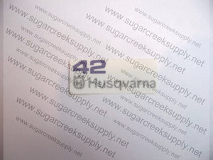 Husqvarna 42 air cover decal