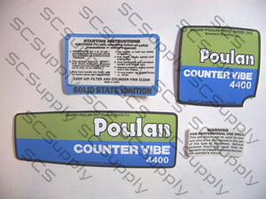 Poulan 4400 CounterVibe decal set