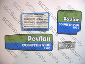 Poulan 4900 CounterVibe decal set