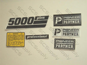 Pioneer/Partner 5000 Plus decal set