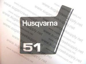 Husqvarna 51(black top) starter cover decal