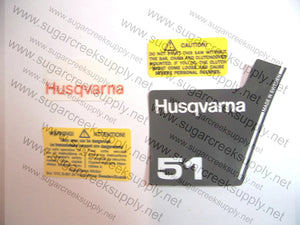 Husqvarna 51 (black top) decal set