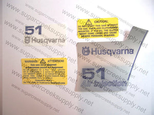 Husqvarna 51 (orange top) decal set