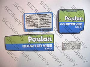 Poulan 5400 CounterVibe decal set