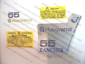 Husqvarna 55 Rancher decal set