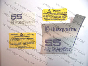 Husqvarna 55 (orange top) decal set