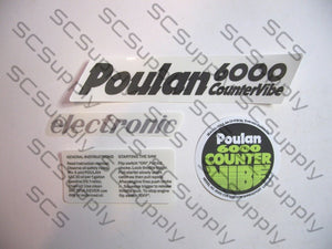 Poulan 6000 CounterVibe decal set