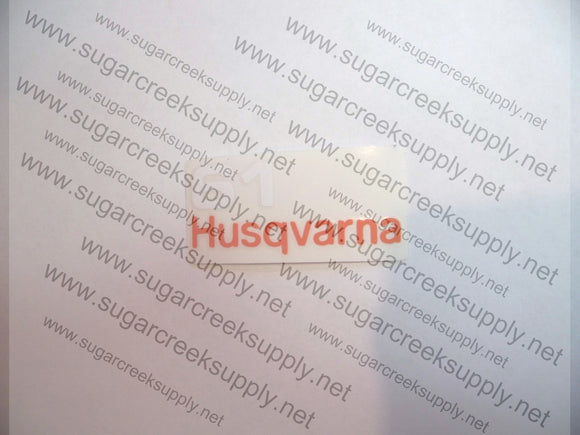 Husqvarna 61(blacktop) airbox decal