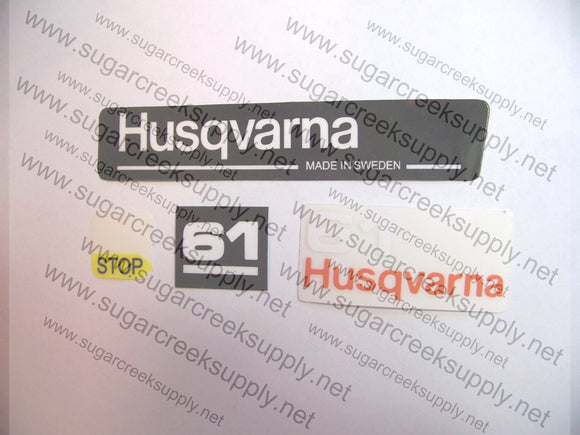 Husqvarna 61(blacktop) decal set