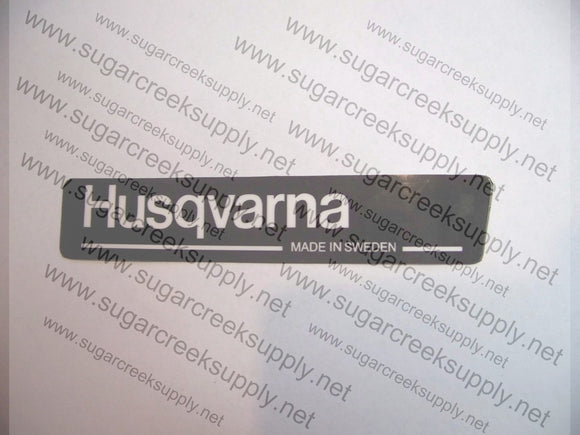 Husqvarna 61(blacktop) DC decal