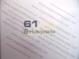 Husqvarna 61 air cover decal